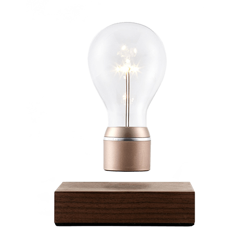 Wooden floating lamp