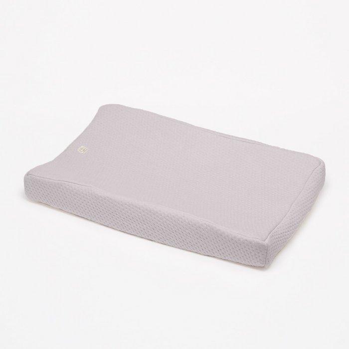 Aankleedkussenhoes light grey - Soft Dots