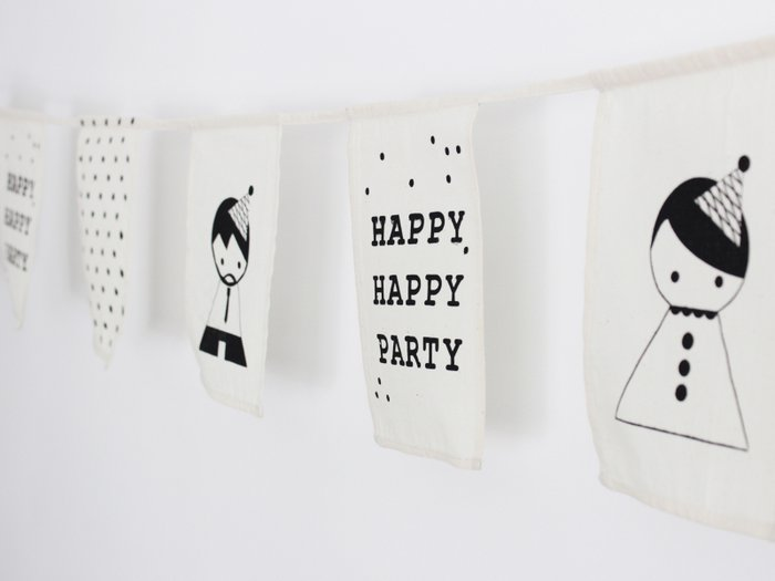 Happy happy party flag