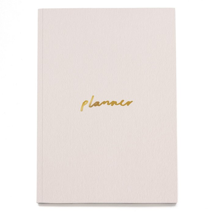 Blush and Gold A5 Planner