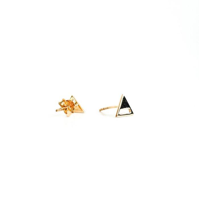 Triangle studs half open - ear studs gold