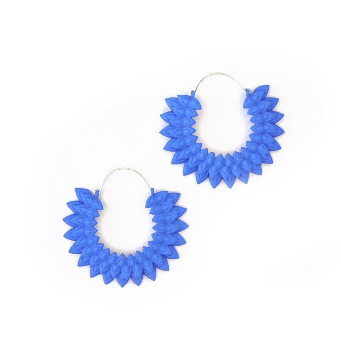 Dahlia earrings Blue