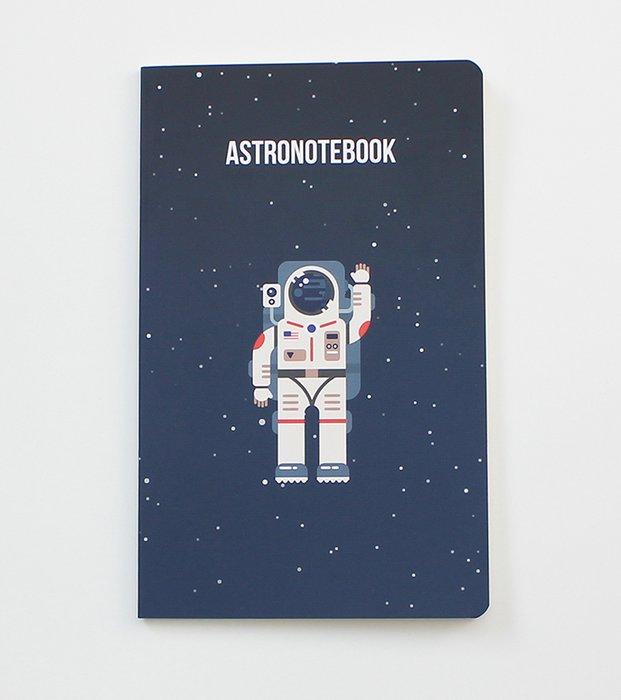 Astronotebook - Notebook for space and astronaut lovers (WAN19301)