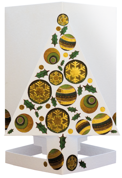 CARDLE Christmas Tree Green (Christmas Tree) - Candle Holder Greeting Card