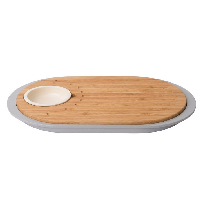 2-sided tapas cutting board with tray