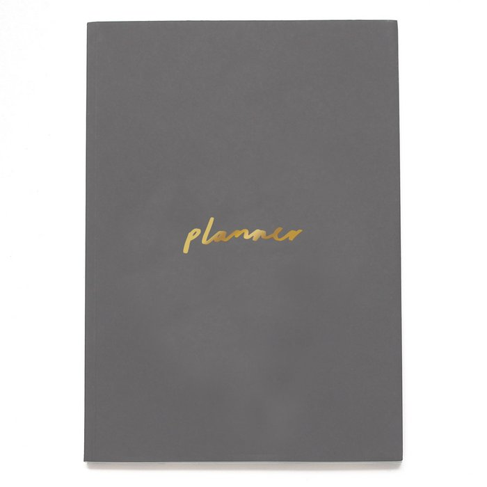 Charcoal Grey and Gold A5 Planner