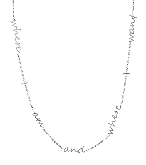 Thought Necklace steel
