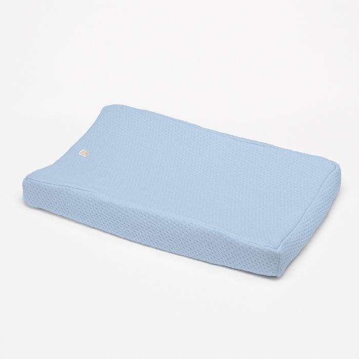 Aankleedkussenhoes light blue - Soft Dots