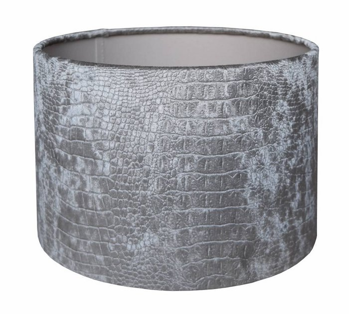 Lampenkap Cilinder CROC Velours Zilver