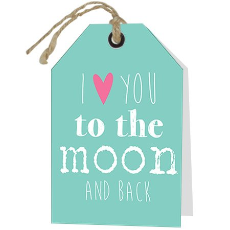 Wenskaart Rebel I love you to the moon and back