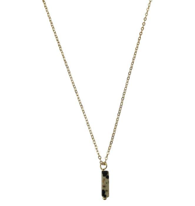 Necklace Dalmatian Jasper