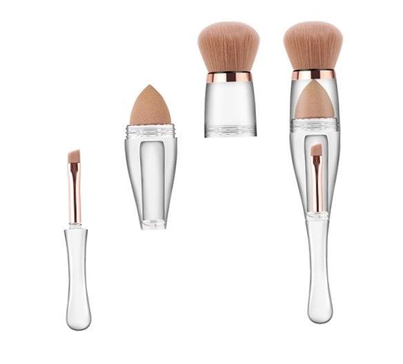 Luxury Beauty Cosmetics 3- in 1 Brush