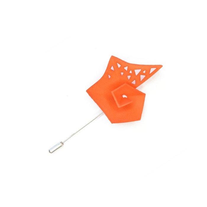 Pinwheel Brooch Tangerine