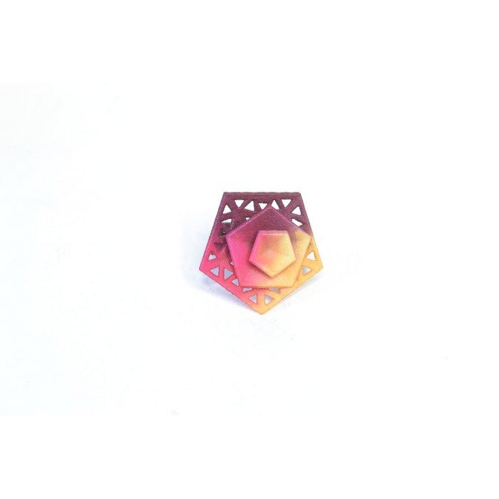 Vertigo ring – perforated Fuchsia/Plum/Citrus