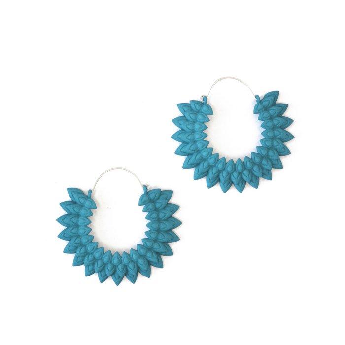 Dahlia earrings Dark Teal