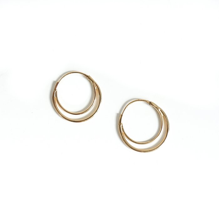 Moon earring gold
