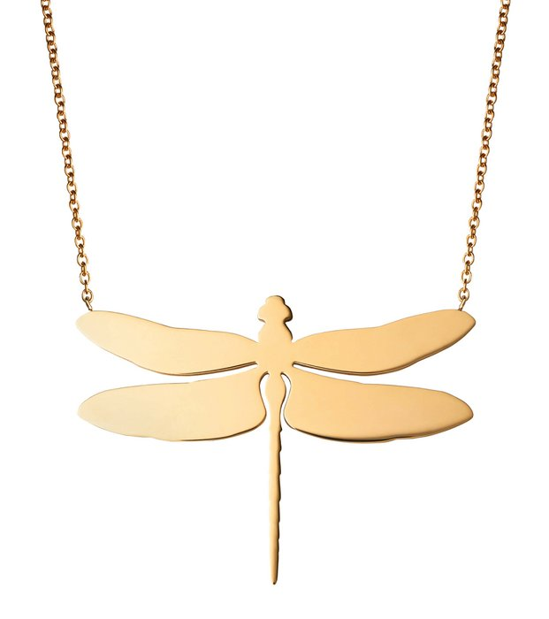 Dragonfly Necklace large goldplated
