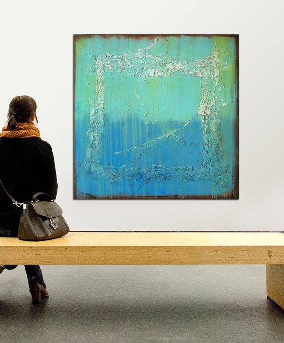 Schilderij - Oceanic Sea Blue