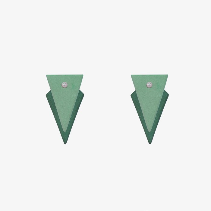 Porcelain earrings small triangle