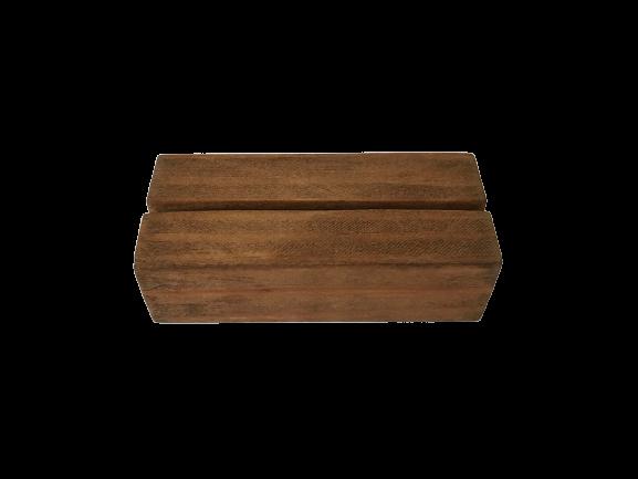 Kaarthouder blokje van hout - Donker - Klein