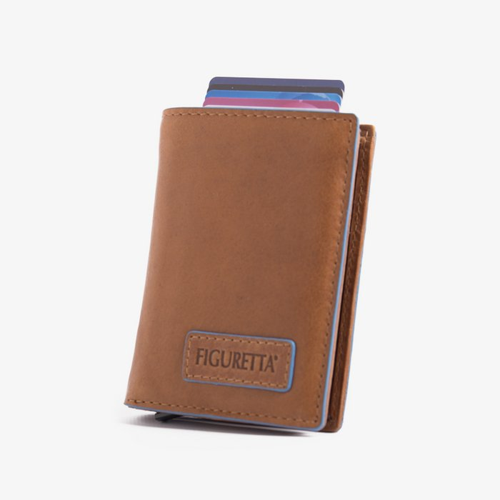 Figuretta - Cognac Blue Line Leder