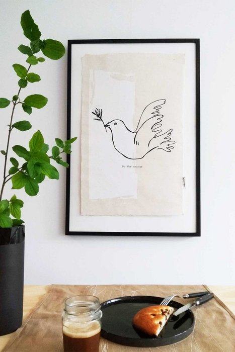 Dove Wall Art 50 x 70 cm