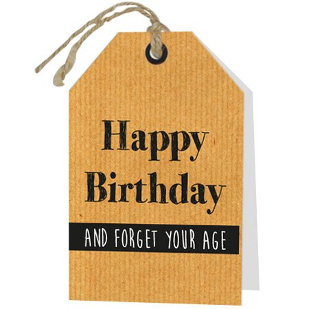 Wenskaart Rebel Happy Birthday and forget your age