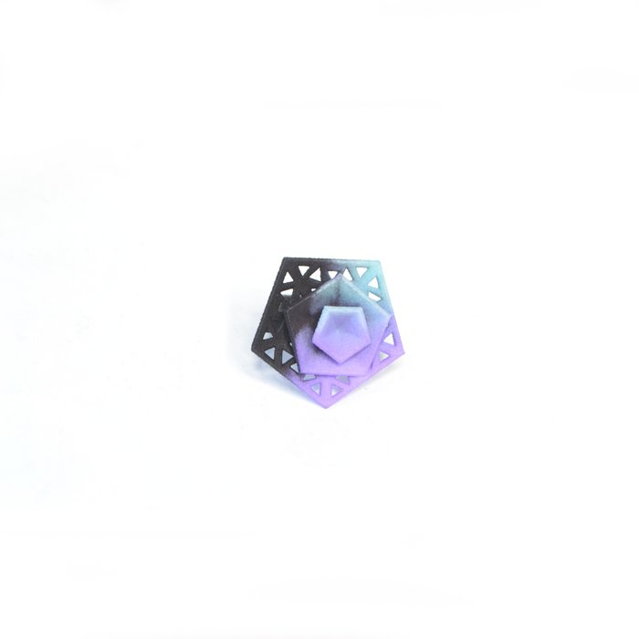 Vertigo ring – perforated Aqua/Lilac/Black