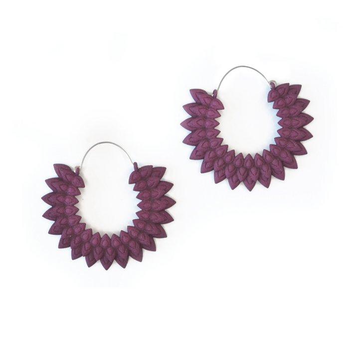 Dahlia earrings Plum