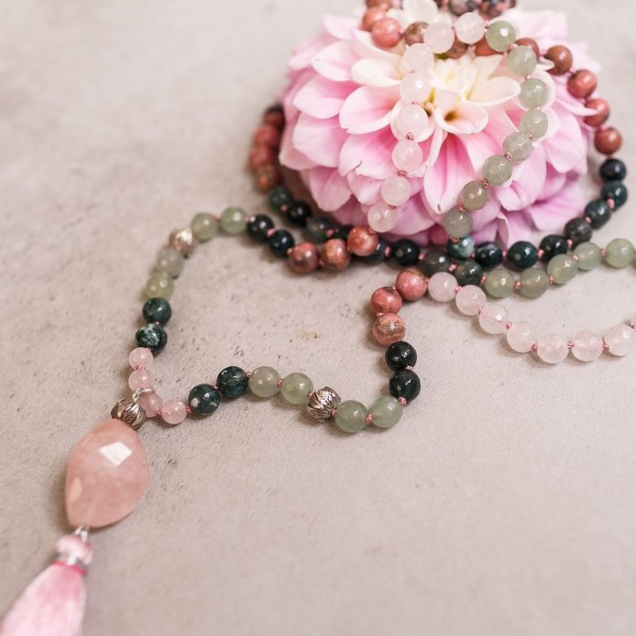 Loving Heart Gemstone Mala