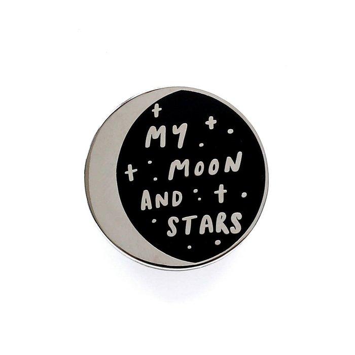 Moon and Stars Enamel Pin