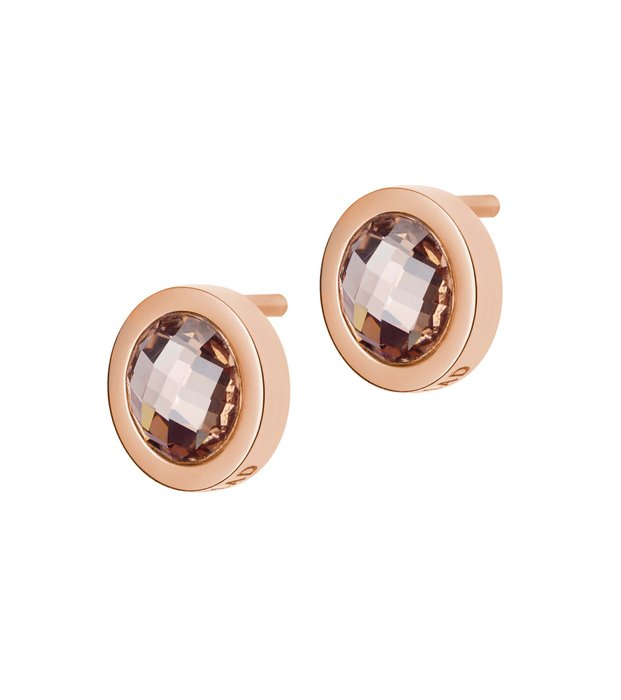 Color studs Espresso/Rose goldplated