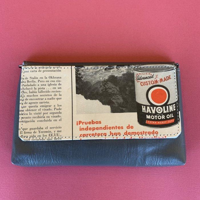 Gray Advert Vintage Cover Vegan Small Lazy Bag