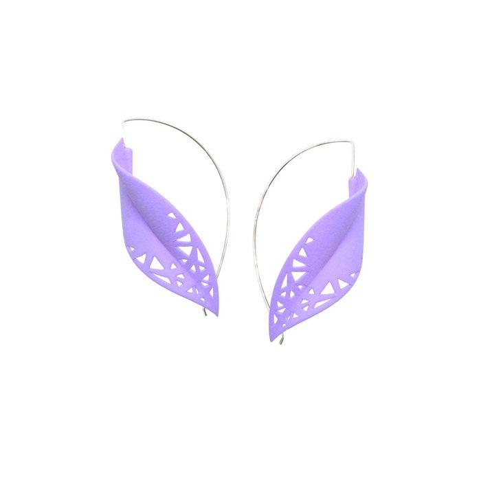 LEAF Earrings Lilac