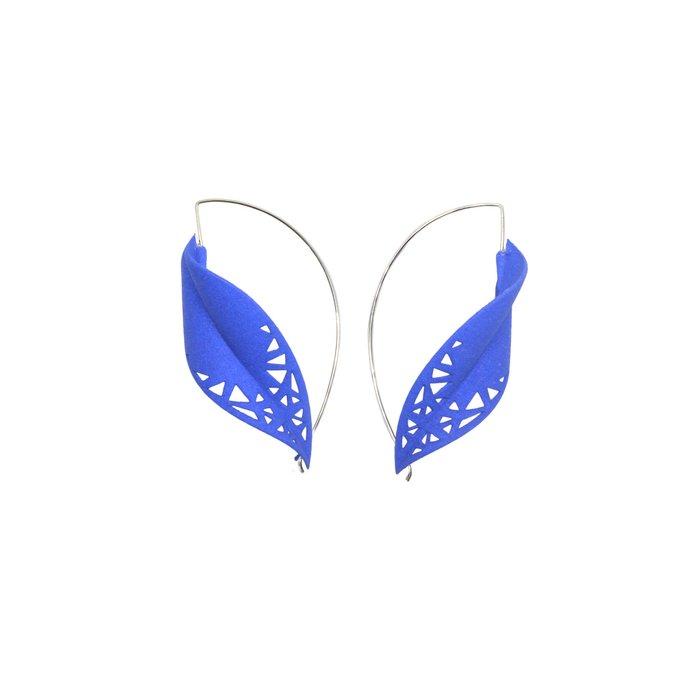 LEAF Earrings Blue