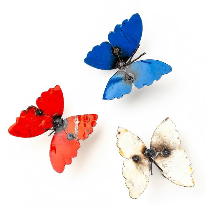 Butterfly Red - Vlinder Rood 13cm