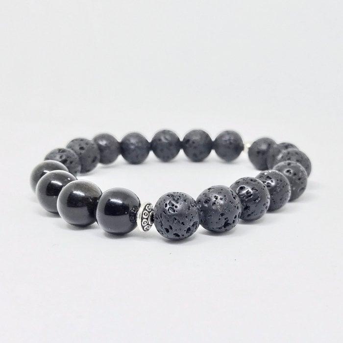 Gravity Men Gemstone Bracelet - Dark