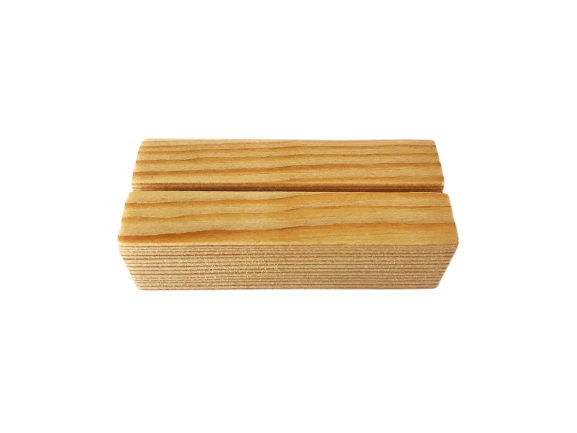 Kaarthouder blokje van hout - Licht - Klein