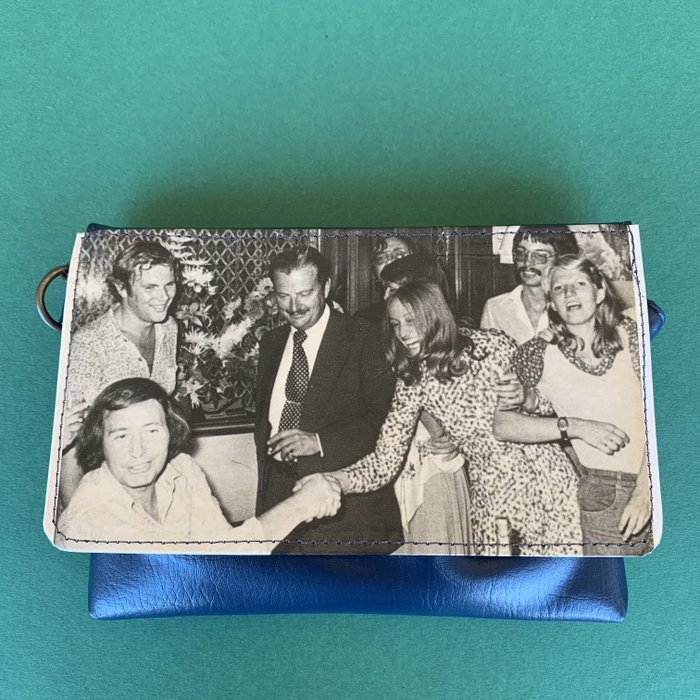 Veronica Blue Vintage Vegan Fanny Pack