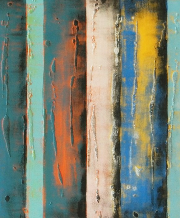 Schilderij - Yellow Panels