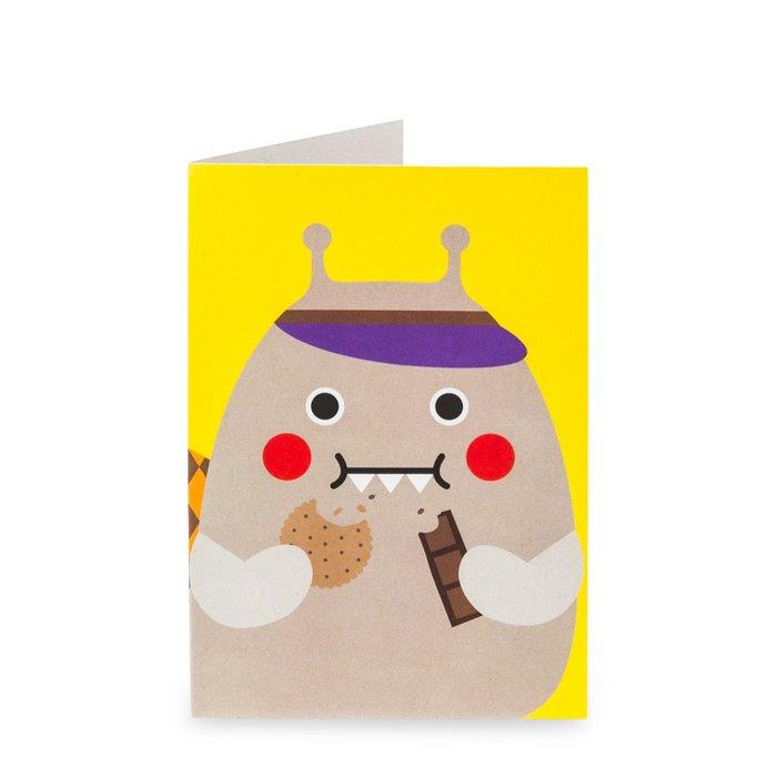 Snail Nom Nom Greeting Card
