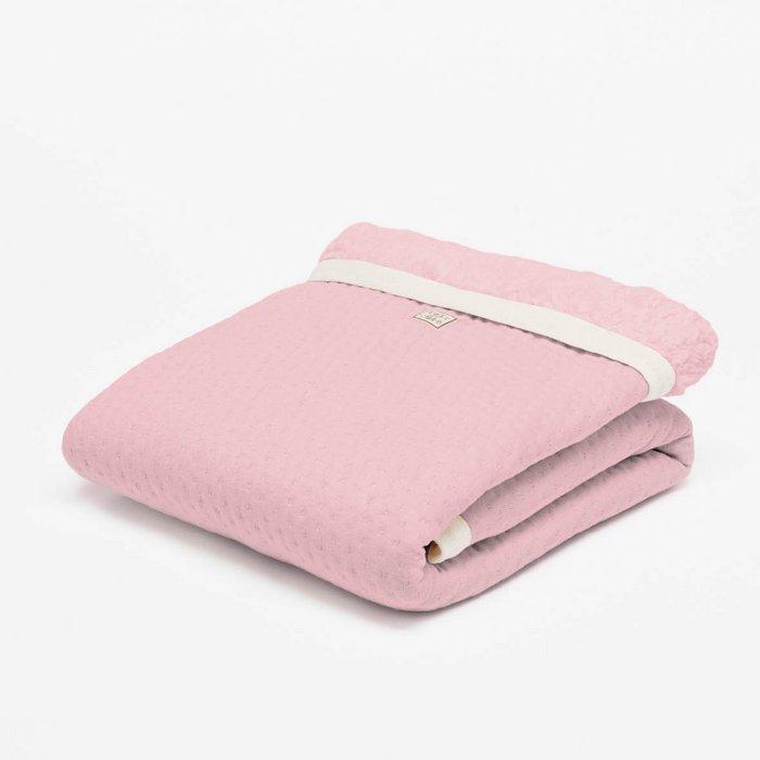 Ledikantdeken winter light pink - Soft Dots