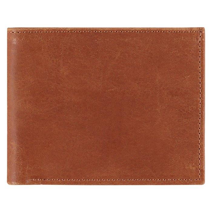 Lederen portemonnee - cognac bruin