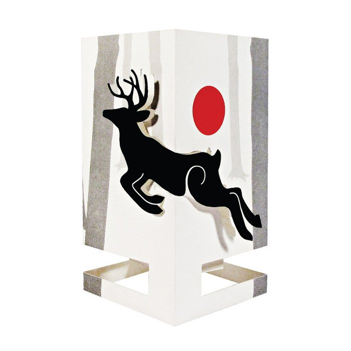 CARDLE Deer (Scenes from the Woods) - Candle Holder Greeting Card