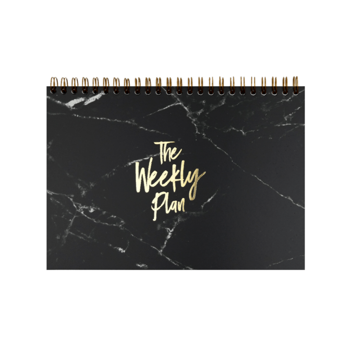 "Notepad ""Weekly Plan"" [A5] black"