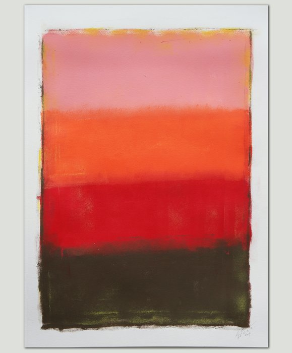 Schilderij - Sunset Colors