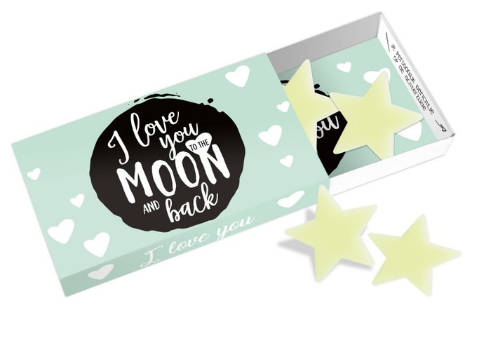 Greeting Box I love you to the moon and back