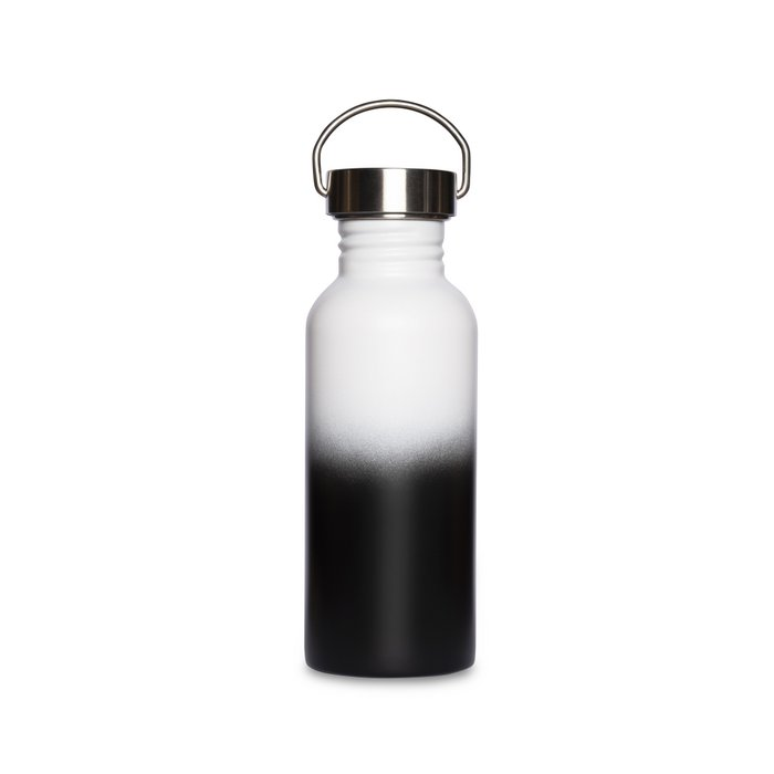 Fusion Waterfles 'Black & White' 600 ml