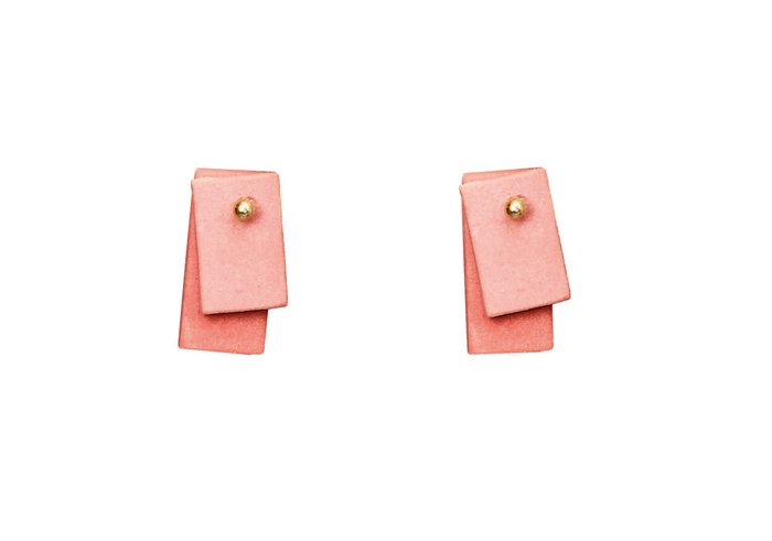 Porcelain earrings small square
