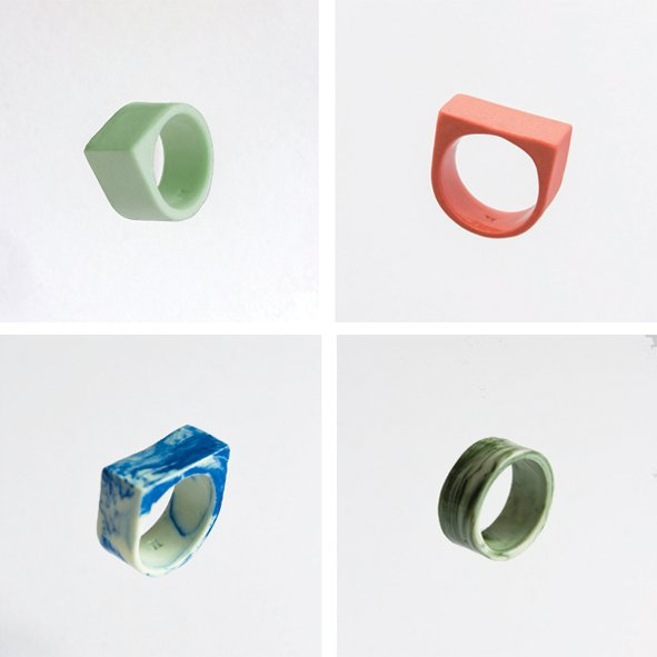 SET mix MARBLE & MAT Rings